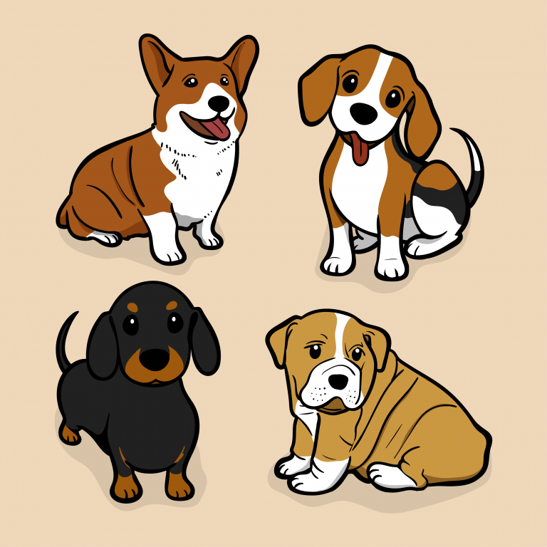 Four small dogs depicting that Swift trucking has a pet policy